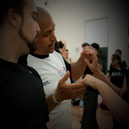 Tomas teaching a certification class